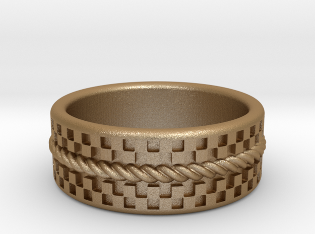 Check Rope ring 17.5mm, US 7 1/4, UK O1/2 3d printed