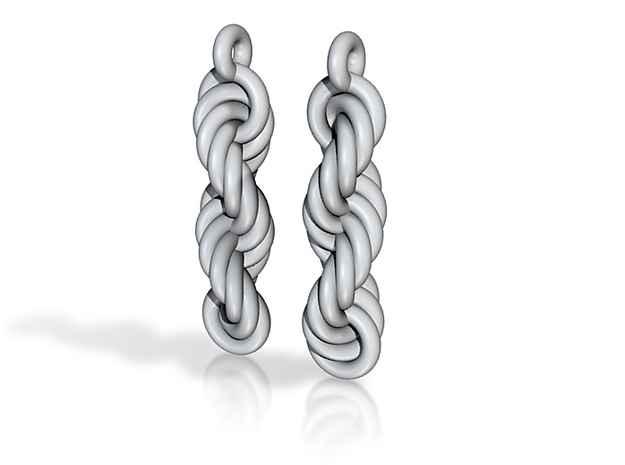 Ringdrop Earrings 3d printed