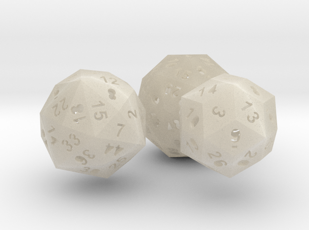 Catalan dice bundle 3 3d printed