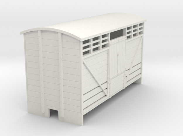 OO9 Cattle van (long) planked door 3d printed
