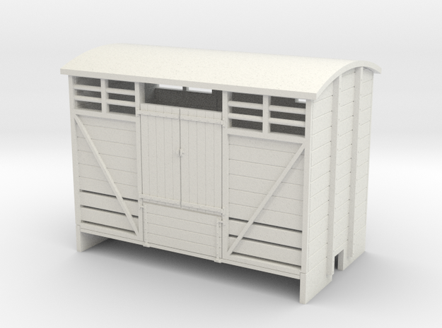 OO9 Cattle van Planked door 3d printed
