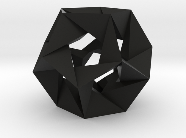 Icosahedron stellation (small) 3d printed
