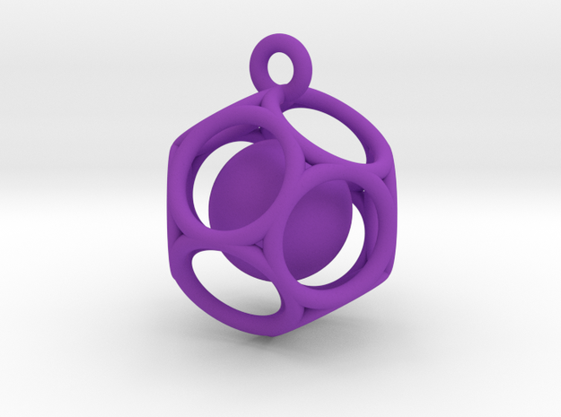 Dod Pendant with ball 3d printed