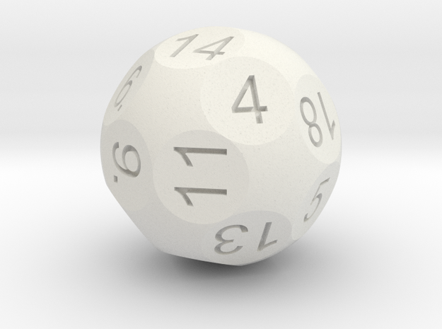 D20 Sphere Dice 3d printed Antique Bronze Glossy