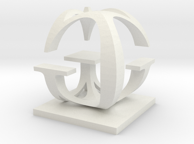 Two way letter / initial G&G 3d printed