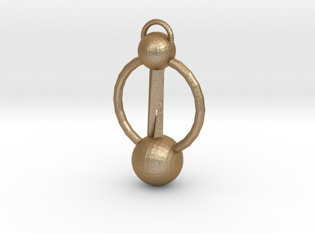 Twisted Earring 3d printed