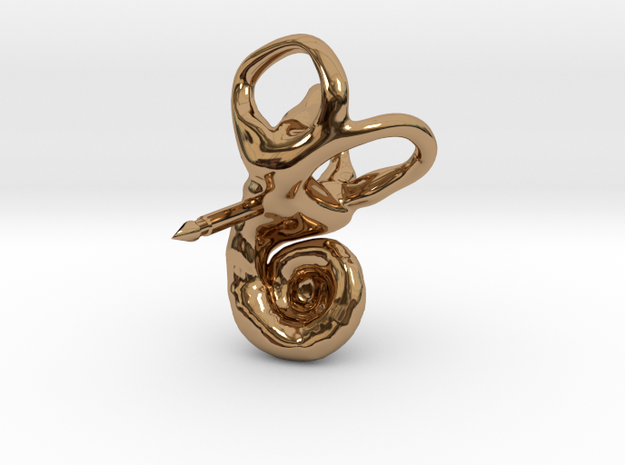 Inner Ear (Cochlea) Lapel Pin 3d printed