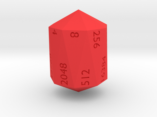 Crystal Shaped doubling d16 3d printed