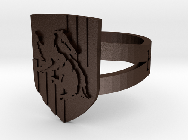 Hufflepuff Crest Ring 3d printed
