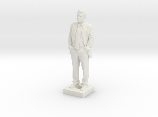 Atoine in Suit on Connection Block 3d printed