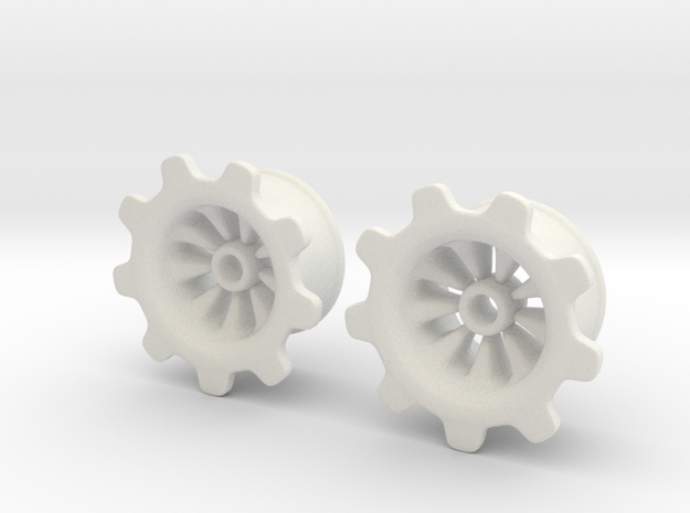 "Gear-ring Plugs 3/4"" 3d printed"