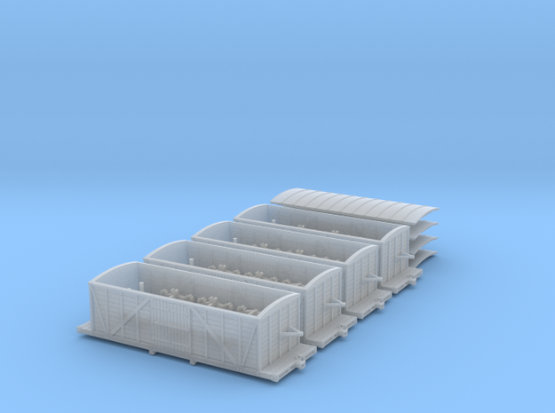 R33 x4 N scale St. Petersburg Moscow boxcar 1847 3d printed