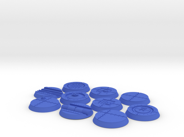 25mm Indoor Industrial wargaming bases 3d printed