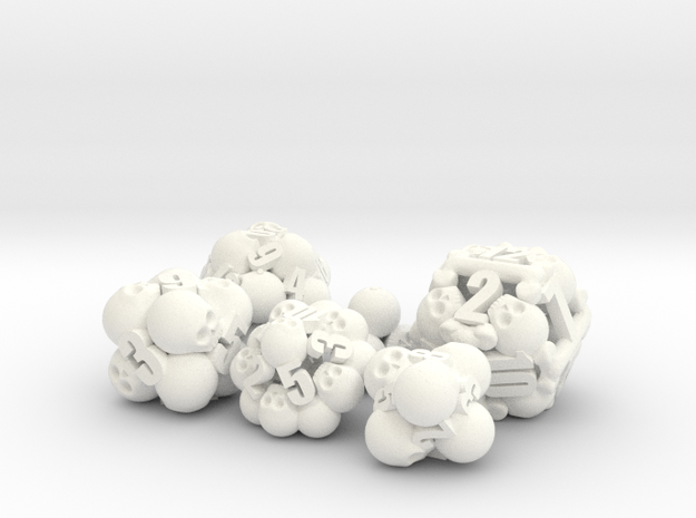 Ossuary Dice Set 3d printed