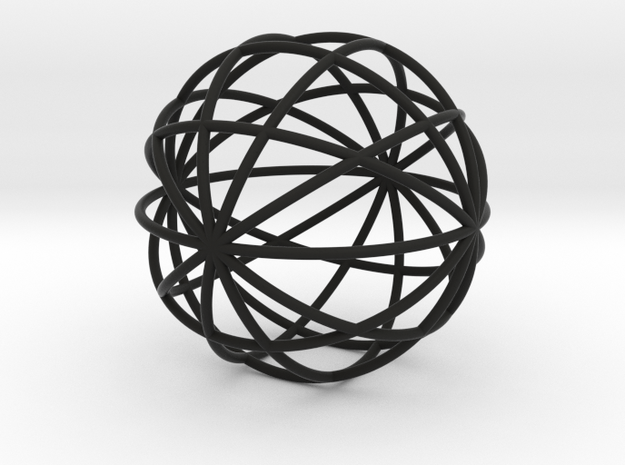 hollow ball 2,5cm 0.8mm strings 3d printed