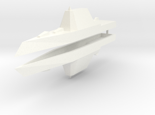 Zumwalt Class Destroyer 1:2400 x2 3d printed