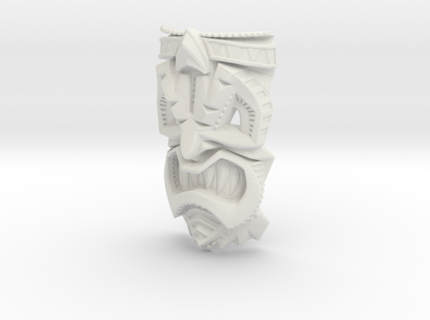 TikiheadE_60mm1 3d printed