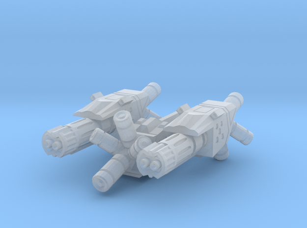 Fusion Repeater (3 pack) 3d printed Nice render of a single gun. Close to how it should appear when printed in plastic.