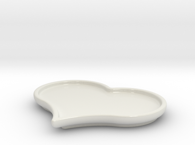 Heart Shaped Plate 3d printed