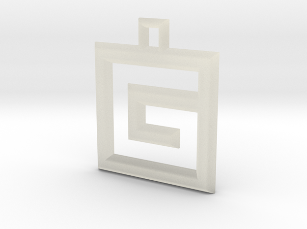 ABC Pendant - G Type - Wire - 24x24x3 mm 3d printed