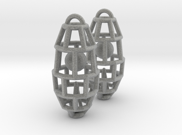 Cage earring - ball inside 3d printed