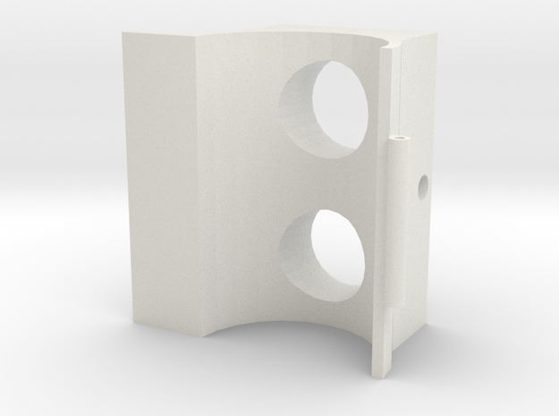 50mm Telescope Clamshell (Part 1) 3d printed