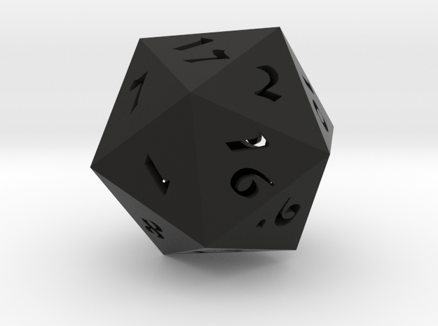 "D20 Hollow Large 3"" 3d printed"