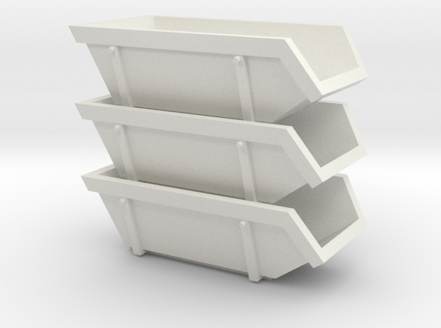 015001.1_6m3 skip in h0 scale (1:87) set of 3 3d printed