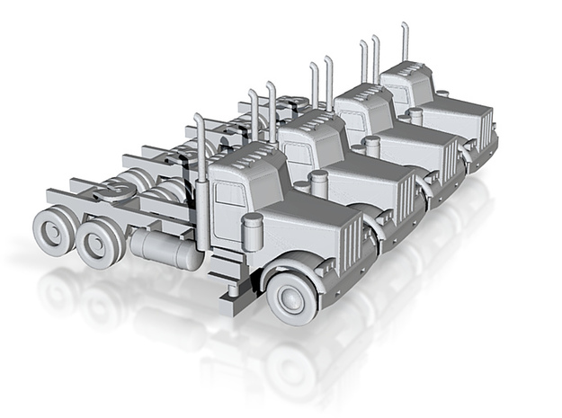 Peterbilt 379 Daycab Set - 1:144 scale 3d printed