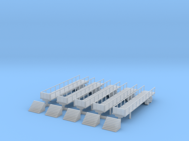 Flatbed 02 Reviewing Stand with Steps 3d printed