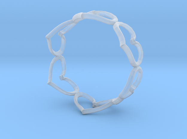 Hearts Bracelet 3inch 3d printed
