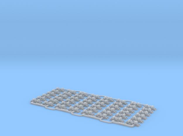Check Rail Chairs 1.25mm Four Pack 3d printed
