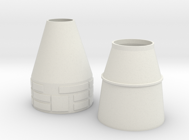 HO 1/87 Nose & Rocket Cones only 3d printed