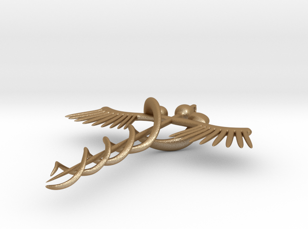 staff of hermes necklace 3d printed