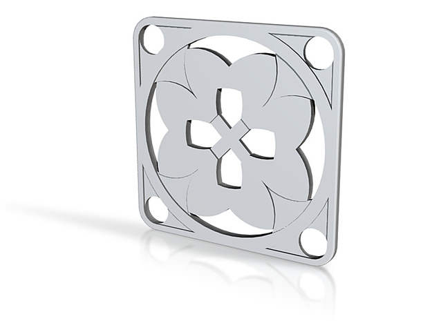 Square Pendant or Charm - Eight Petals Crossed 3d printed