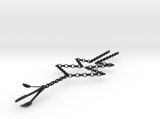 Fork, Spoon & Knife Necklace 3d printed