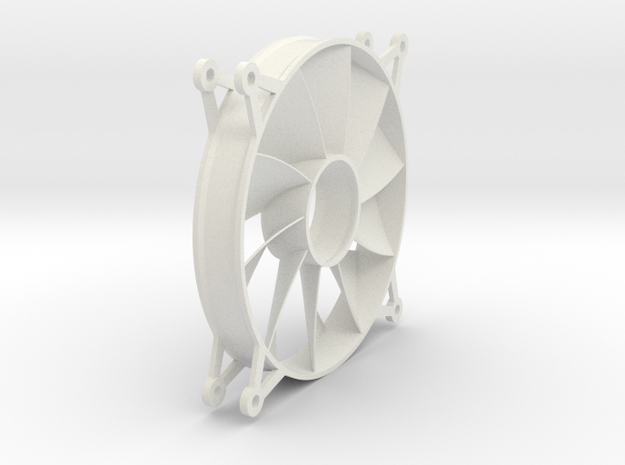 120mm PC Fan Stator 3d printed