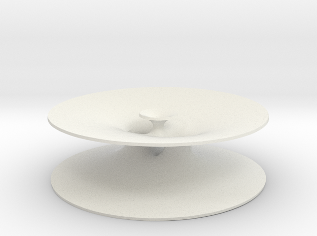 Genus One Minimal Surface with Four Ends 3d printed