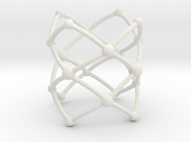 Stacked Frustrated Chains ring 3d printed
