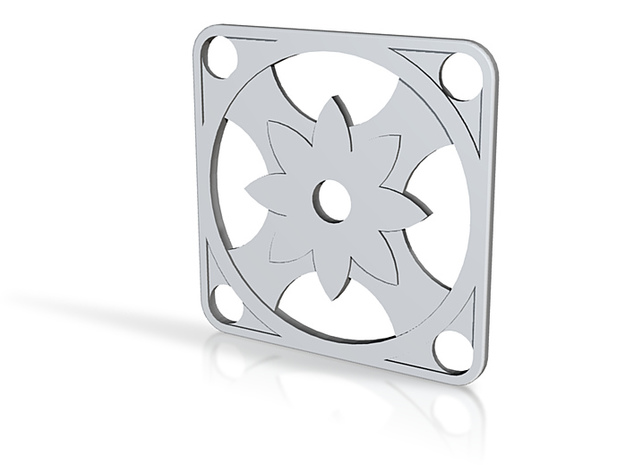 Square Pendant or Charm - Eight Petal Supported 3d printed