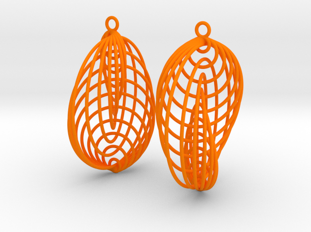 Running in Circles - Earrings (L) 3d printed