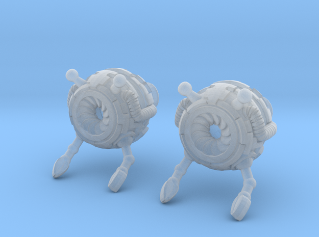 Bot Earrings (Small) 3d printed