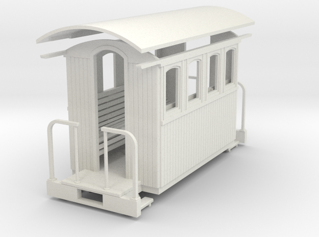 On20/On18 4 wheeled coach Body 3d printed