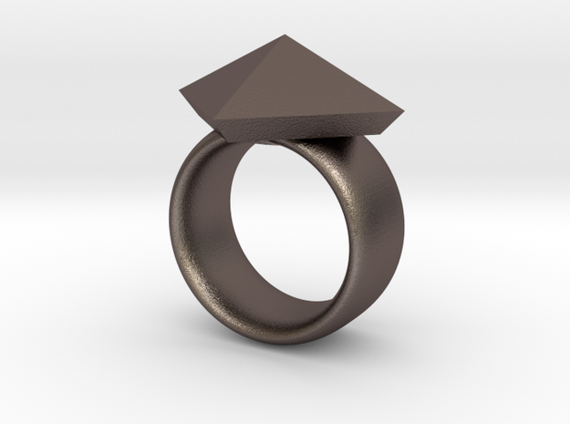 Pyramid Ring size 7 3d printed