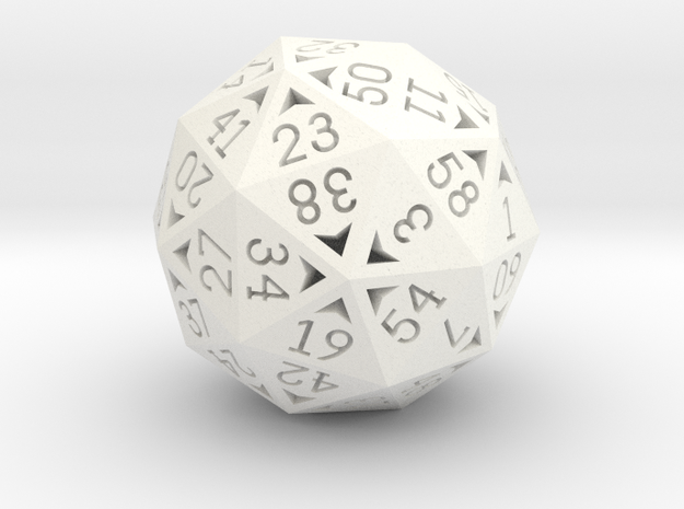 60 Sided Die - Regular 3d printed