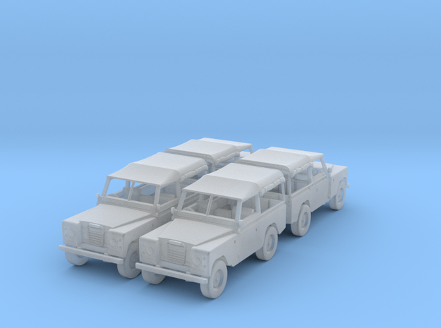 4 Landrover 1:120 3d printed