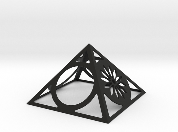 Pyramid Desk Clock With Foto Option 3d printed