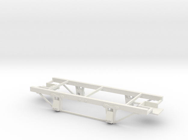 On30 14ft 4w underframe with tie rods 3d printed