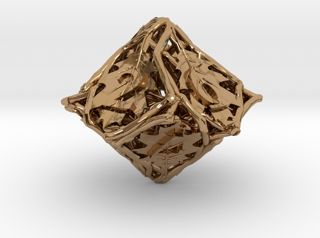 Botanical Die10 (Oak) 3d printed