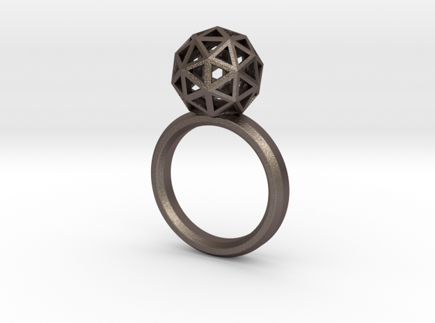 Geodesic Dome Ring size 8 3d printed